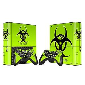 XBOX 360 E Skin Design Foils Aufkleber Schutzfolie Set – Biohazard Motiv