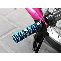 Estribos Reposapies Bicicleta Cilindros Pernos Pisantes Conos Diablillos Bici (Azul)