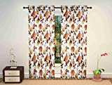 #9: Dizen Star curtains for bedroom doors and windows(4X7 feet)