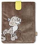 Nici 36093 - Plüschhülle für iPad, Schneeleopard Junge