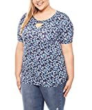 Druckshirt T-Shirt Shirt Top Große Größen Blau Patrizia DINI, Größenauswahl:44