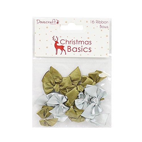 Dovecraft Natale Basics Mini Fiocchi, Tessuto, Multicolore