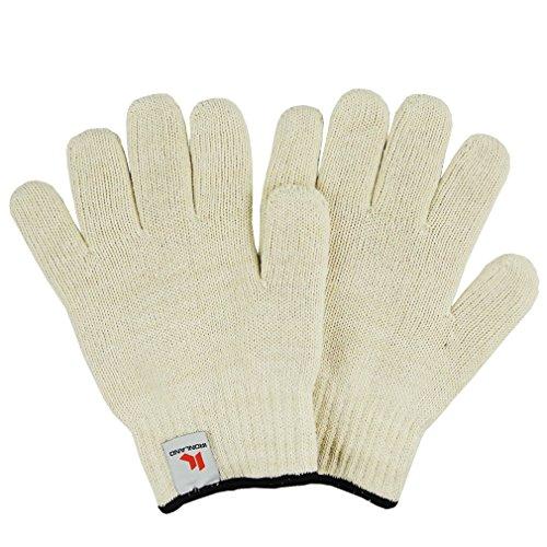Gants de Four Anti-chaleur résistent jusqu'à ,Anti-coupure, pour Cuire, Griller, Cuire au Four, Micro-Ondes (blanche)