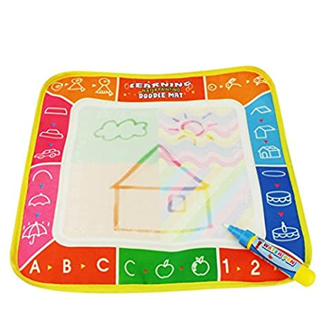 Transer® Toys for Kids - 4 Colors Doodle Water Drawing Mat Board & Magic Pen - Baby Painting Toy Gift New (29*29cm,