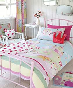 Catherine Lansfield Kids Fairy Tale Single Bed Quiltset, Multi