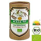 Maca fit 100 Capsules Biologique, aliment superbe de qualité prime, Convient aux végétariens et aux végétaliens, Riche en vitamine B1, B2, B6, calcium, fer et zinc, Certifié Biologique par