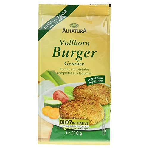 Alnatura Bio Vollkorn Burger Gemüse, 210 g Test