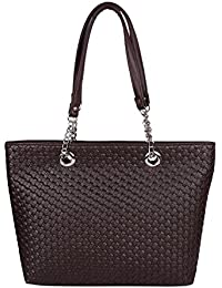 Osaiz Black Colored Faux Leather Designer Shoulder And Hand Bag For Women , Girls & Ladies For Every Occasion...