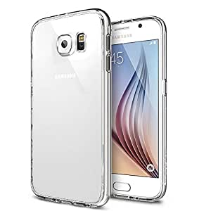 MTT T Non Slip Neo Fit (Dual Layer/Crystal Clear/ Drop Protection/Side Bumper )- Protection From Drops And Impact For Samsung Galaxy S6 -Crystal Clear