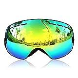 GANZTON Skibrille Snowboard Brille Doppel-Objektiv UV-Schutz Anti-Fog Skibrille Für Damen Und Herren Jungen Und...
