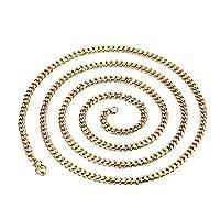 MJARTORIA Men Women Gold Color Curb Link Collar Chain Necklace 23.6 Inches