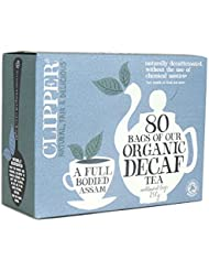 Clipper Teas - 80 Unbleached Bags of Organic Decaf Tea - 250g (Case of 6)