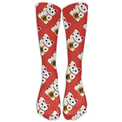 Unisex Maneki Neko Casual Novelty Funny Athletic Long Socks