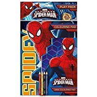 Marvel Spider-Man Play Pack Colouring Set Pencils Travel Stocking Fillers by The Home Fusion Company