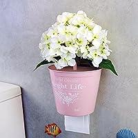 Shelfhx Europäische Einfachheit Rostfeste Toilettenpapierhalter Saugnapf  Wand Kunststoff Tissue Rack Bad WC Toilettenschale Kreativität Dekoration  ...