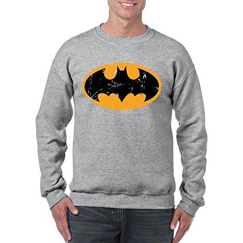 Mens Funny Printed Sweatshirts-Batman Inspired Logo DC Comics Jumper