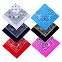 BESPORTBLE Face Bandana Neck Gaiter Face Scarf Men Women Full Face Shield Visor Cover Neckerchief for Dust Wind Outdoor Supplies 6PCS