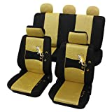 Petex 24874819 Sitzbezugset Universal Gecko Größe SAB 1 Vario, 11-teilig, gelb