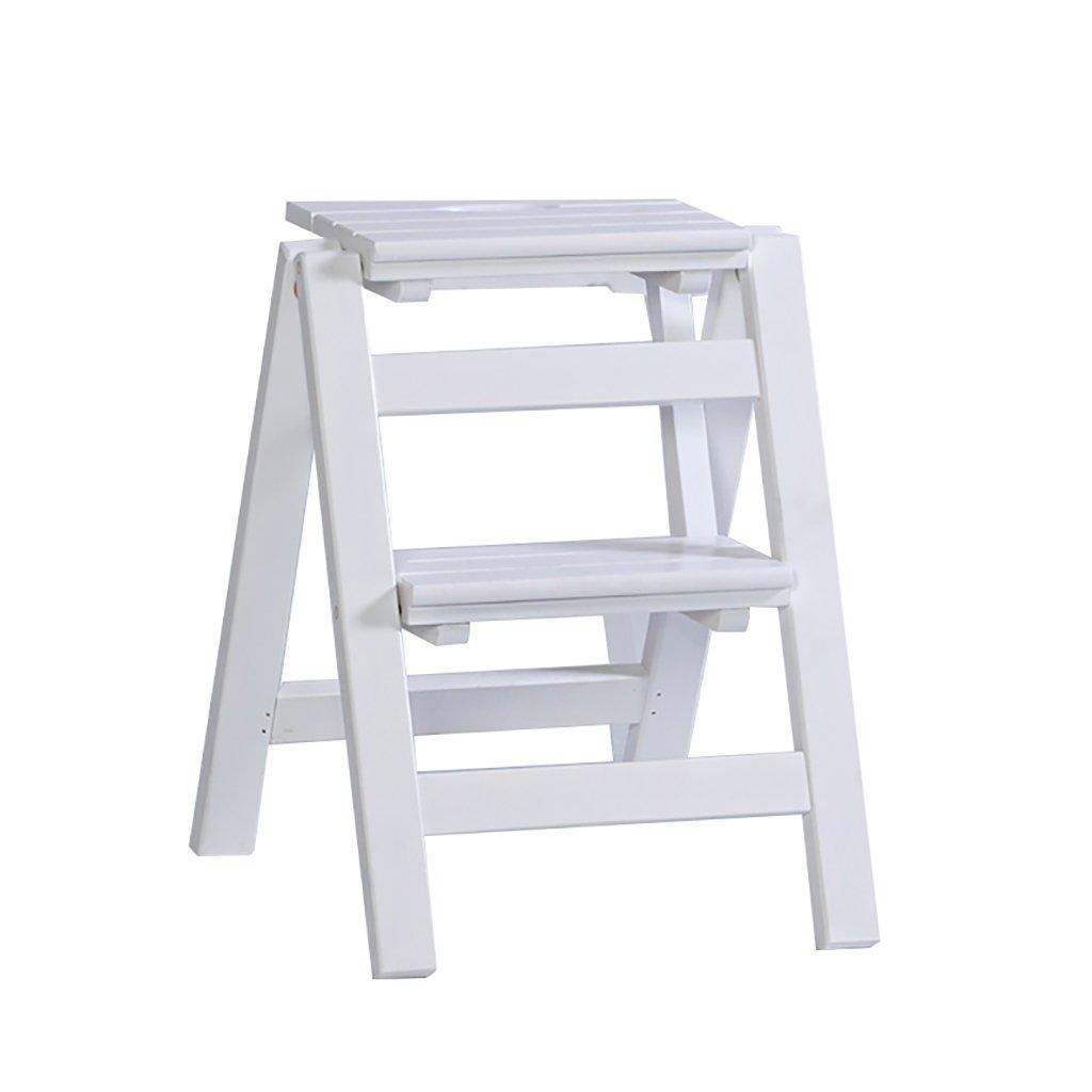 Sgabello Scaletta Pieghevole In Legno.Gaixia Ladder Sgabello Scaletta Pieghevole In Legno Massello Portabigli In Legno Scala Da Scaletta Interna Multifunzione Per Scalette In Legno