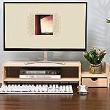 Organisieren Speicherschränke, Massivholz Computer Monitor Stand TV Bildschirm Halterung, Desktop Storage Rack Holz Farbe