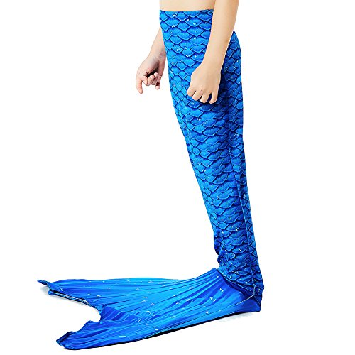 Gemalt Meerjungfrau Kostüm Meerjungfrauenschwanz für Kinder Schwimmen(Ohne Schwimmflosse) (Hochwertige Kostüme Uk)