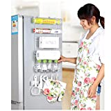 Yontree Étagère à Suspendre Pour Refrigeratueur Avec Ventouses Panier à Suspendre Étagère à Epices Rangement Cuisine