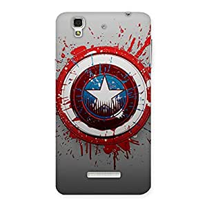 Neo World Red Blood Blue Shield Back Case Cover for Yu Yureka