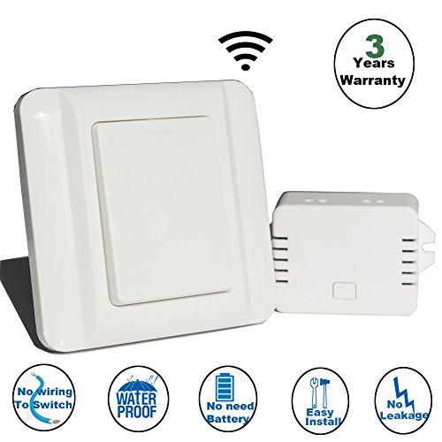 WGOAL Auto-alimentado sin hilos El conjunto de interruptor,No recargable no WiFi Control...