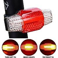 Wasserfest Fahrrad Rücklicht LED Bremsleuchte Sicherheitswarnleuchte USB♥