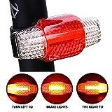 Ultra Bright Rücklicht Bike USB aufladbare Bike Light Wiederaufladbare hinten blinkende LED-Bremslicht für Fahrrad Rack Rückseite smart Bike ACHTUNG Rückleuchten Blinker Wasserdicht Bike Lights Night Riding