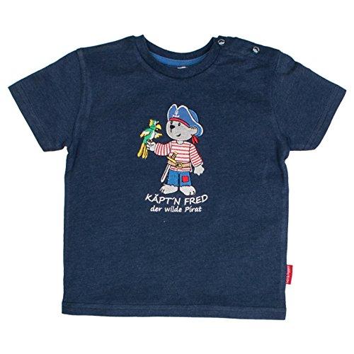 SALT AND PEPPER Baby-Jungen T-Shirt B Pirat Uni Käpt`n, Blau (Ink Blue Melange 481), ()