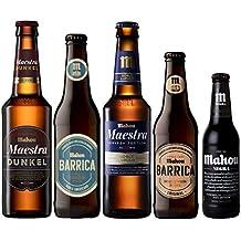 Pack Cerveza Mahou diferentes cervezas - Mahou Maestra, Mahou Maestra Dunkel, Mahou Negra,