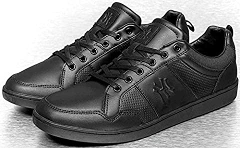 New York Yankees Fulcane Black Mens Leather Trainers Shoes-7