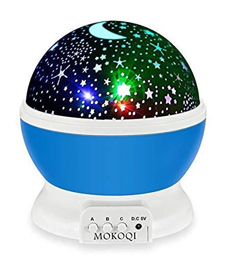 amiubo Sternenhimmel projektor Lampe 3D Modell Licht USB Kabel Romantische rotierenden Kosmos Sterne Sky Moon Projektor Rotation Nacht Projektion für Kinder Kinder Schlafzimmer - Switch Rotary Light