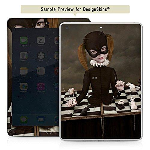 Apple iPad mini 4 Case Skin Sticker aus Vinyl-Folie Aufkleber Schach Maske Mädchen (Cat Vinyl Maske)