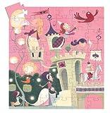 Djeco - Puzzle 54 Teile - Silhouette Edition - Das romantische Schloss