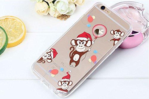 iPhone 6 Custodia (4.7 pollice), Bonice iPhone 6S Cover,Bonice Colorato Ultra Thin Morbido TPU Silicone Rubber Clear Trasparente Back Creativo Case –Pinguino model 11