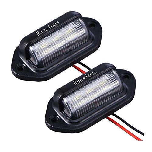 Luce targa a 2 LED per targa, Luce di cortesia per porta di cortesia di Ruesious Luce per rimorchi, camper, camion e imbarcazioni