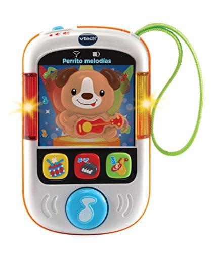 VTech- Perrito, MP3 Reproductor Musical de Juguete para bebé con más de 65 melodías, Canciones, Sonidos y Voces, enseña Vocabulario e Instrumentos (3480-508422)