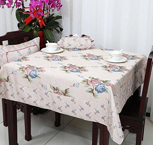 nappe de table Européenne de luxe épaisse table tissu nappe table à thé tissu rond nappe Jacquard 90 * 90 cm-150 * 220 cm Tapis de table (Couleur : A3, taille : 90 * 90cm)