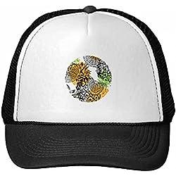 DIYthinker Gorra de béisbol de Nylon de Color Amarillo limón piña Fruta Tropical Gorros Gorro Fresca niños del Casquillo del Sombrero Ajustable Regalo de los niños