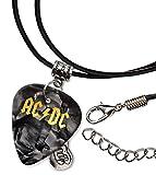 Acdc Gitarre Plektrum Schnur Halskette Necklace Black Pearl ( GHF )