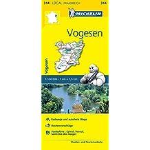 Michelin Vogesen: Straßen- und Tourismuskarte 1:150.000 (MICHELIN Localkarten)