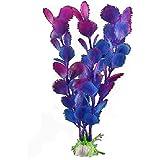 Kunstpflanze 19CM Aquarium Dekoration Wasserpflanze blau&violett