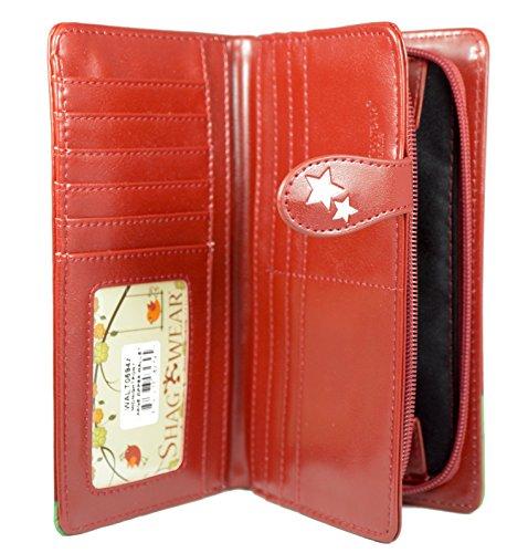 Shagwear portafoglio per giovani donne , Large Purse : Diversi colori e design : Mezzanotte Pony rosso/ Midnight Pony