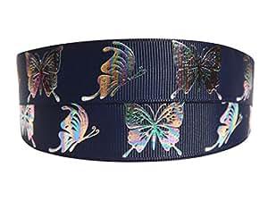 2m x 22mm Pretty navy & grosgrain farfalla colorata per torta di compleanno, matrimonio, torte, festa della mamma da regalo