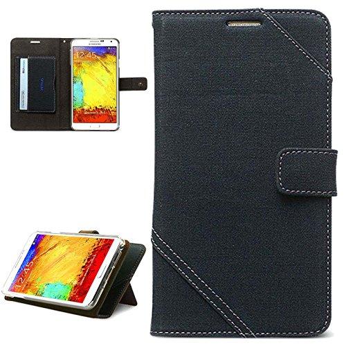 Zenus Cambridge Diary Klapptasche für Samsung Galaxy Note 3 navy blau