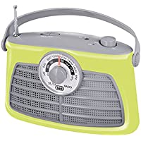 Trevi RA763V–Retro Portable Amplifier Radio Frequency Research Needle–Mains or Battery Powered Rotating–Green
