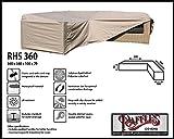 RHS360 Loungemöbel Abdeckschutz für L-Form, passt am besten am Set von max. 355 x 355 cm. Abdeckung für Lounge Eckset, Schutzhülle in L-Form für Lounge Sets, Schutzplane, Regenschutz Ecklounge