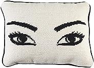 Jonathan Adler Eyes Needlepoint Throw Pillow, One Size, Natural